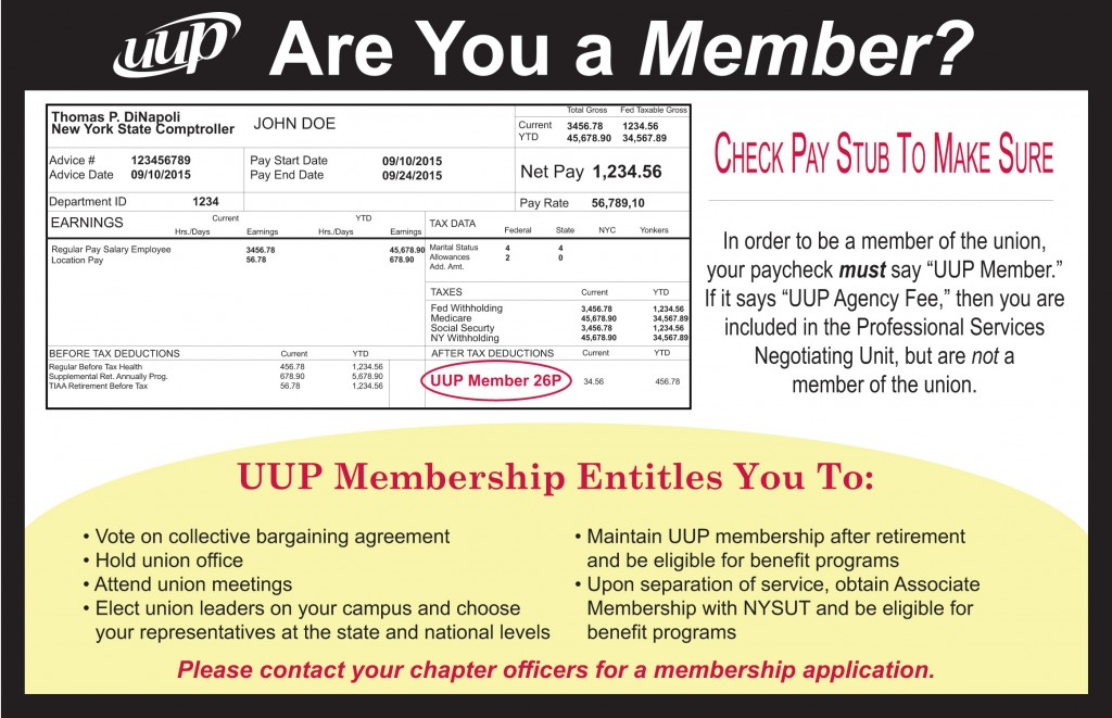 Are you a member of UUP?